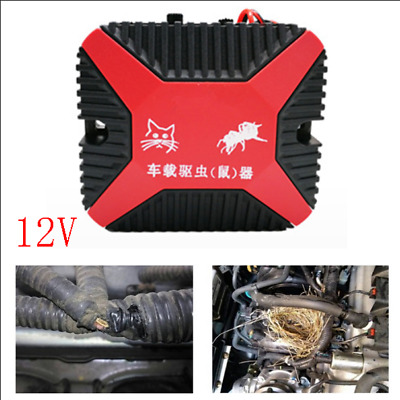 High-Tech 12V Dual Ultrasonic Engine Wire Protection Mouse Chaser Rats Repeller