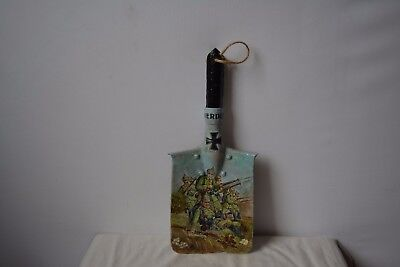 original military sapper shovel with picture painting ww 1