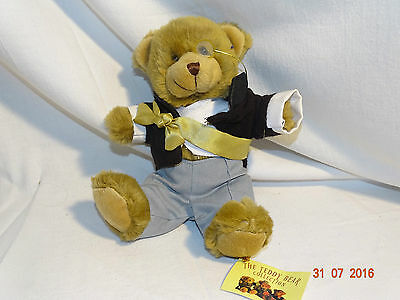 "Collectable Ambrose the ambassador 8"" bear ""the teddy bear collection"" + tags"
