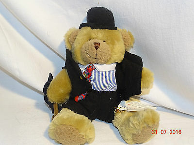 "Collectable Stanley the stockbroker 8"" bear ""the teddy bear collection"" + tags"