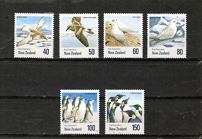 NEW ZEALAND 1990 Birds issue of 6 Mtd MINT