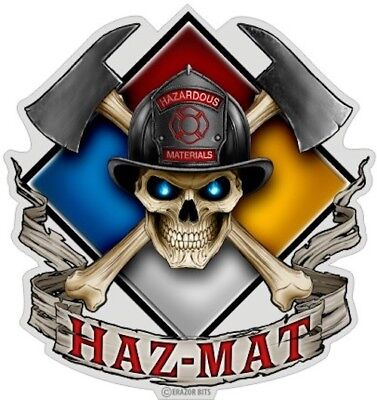 Erazor Bits Firefighter Haz Mat Hazardous Material Decal Sticker