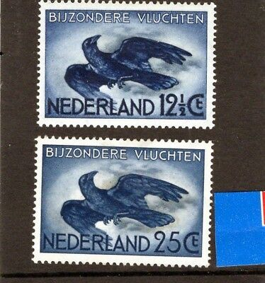 NETHERLANDS 1938 Carrion Crow issue of 2  Mtd MINT