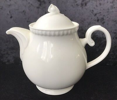 Classic White Porcelain Teapot With Rose Finial