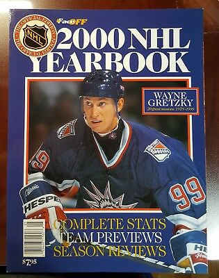 2000 Nhl Yearbook Wayne Great One Gretzky On Cover - Good Condition*