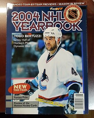 2004 Nhl Yearbook Todd Bertuzzi On Cover - Good Condition*