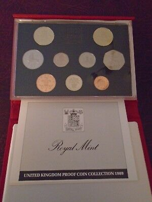 British proof coin set 1989
