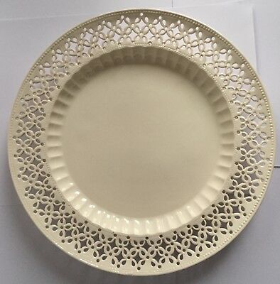 Leedsware Pottery Creamware pierced plate stamped on the base 27cm diameter