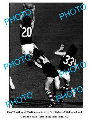 Geoff Southby 1972 Carlton Fc Great Large A3 Photo