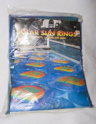 Solar Sun Ring Swimming Pool Heater Sealed Package Blue
