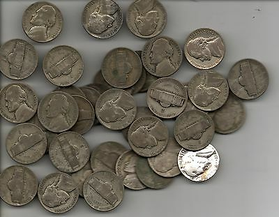 40 Silver war nickels ,full roll one bid,,free shipping inside the USA  MUST SEE