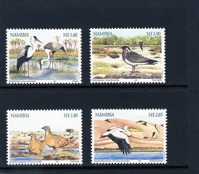 NAMIBIA 1999  set of 4 Birds  Mtd MINT
