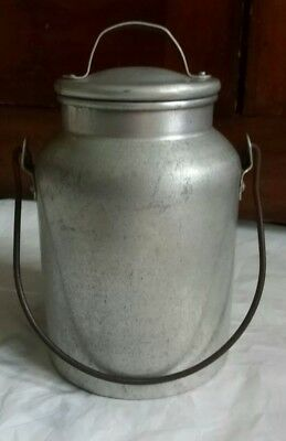 VIKO Brand 64 Ounce Aluminum Milk Can Pail Miner Bucket with Lid, Bail Handle