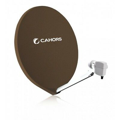 CAHORS Parabole satellite SMC FIBRE 70 CM HD Marron  Antenne SMC Composite