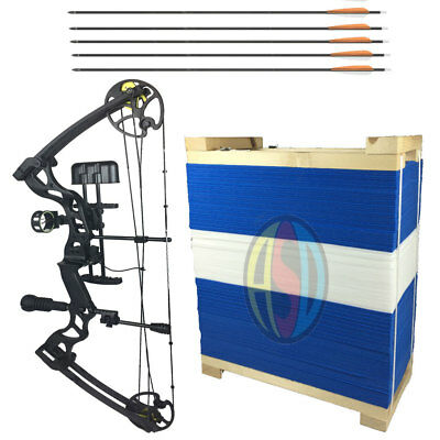 ASD Black Pro Series Adult Archery Compound Bow ** COMPLETE PACKAGE With TARGET