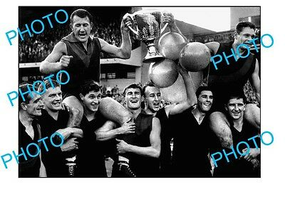 Ron Barassi & Beckwith 1959 Melbourne Premiers A3 Photo