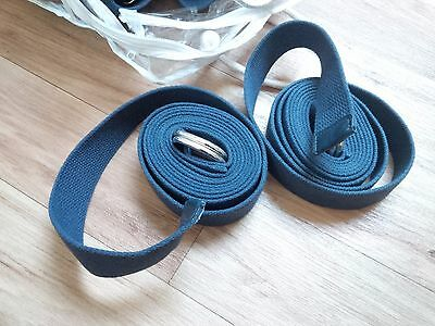 15 x strong thick canvas yoga straps with 2 silver DD secure loops & carry case