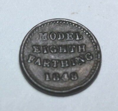 Model 1/8th ( Eighth) of a farthing 1848.
