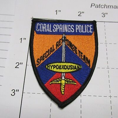 Coral Springs Police Dept Srt Special Response Team Swat Tactical Florida Patch