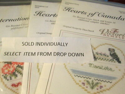 Victoria Sampler Hearts Cross Stitch KIT-Your Choice 3.3x3.8 Inches-Thea Dueck