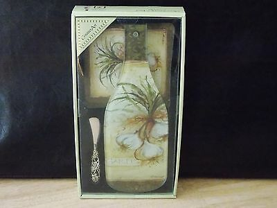 """Counter Art Cheese Server and 6"""" Trivet New"""
