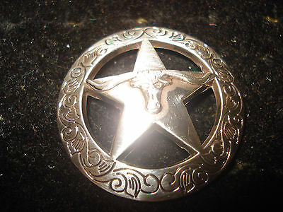 Star with Steer Longhorn Concho Leather Jacket Vest Belt Clothing Accessory