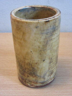 Vintage Mid Century McCarty, Marigold Mississippi pottery cylindrical vase 3.25""