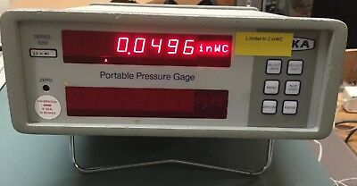Ruska Portable Pressure Gage Series 6200 Cat No. 6250 S/N 46586 - 2.5 In WC