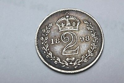 1898 silver maundy  2d coin.