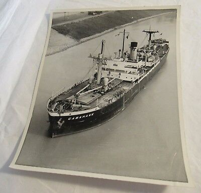 1960s Cabahawk Cargo Ship Vintage Photograph Welland Canal Great Lake Old RARE