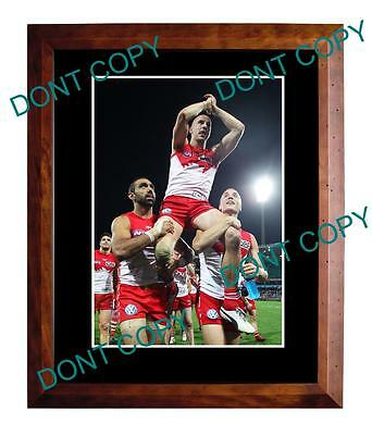 Tadgh Kennelly Sydney Swans Last Game Large A3 Photo