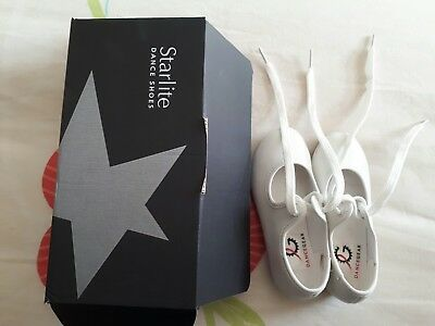white tap shoes infant size 8