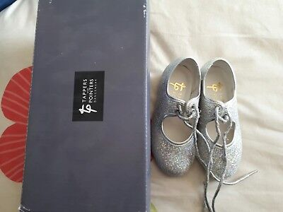 silver sparkly tap shoes infant size 7