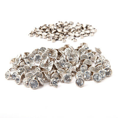 clou rivet diament strass super brillant 100pcs 10x10mm Argenté