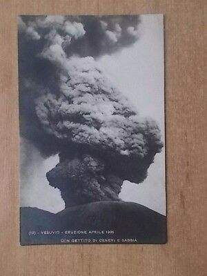 Vintage Postcard - Eruption Of Vesuvias 1906 - Vesuvio Eruzione