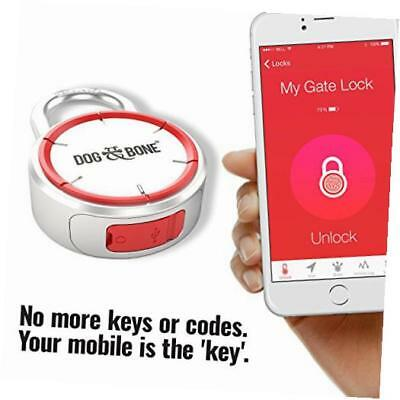 dog & bone locksmart - keyless bluetooth padlock - smart padlock - smart lock -