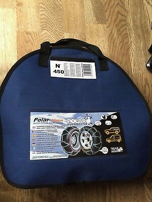 Polar N450 16mm snow chains - used once