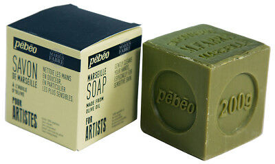 Pebeo Marius Fabre Marseille Olive Oil Soap Block for Artist Cleaning 200g