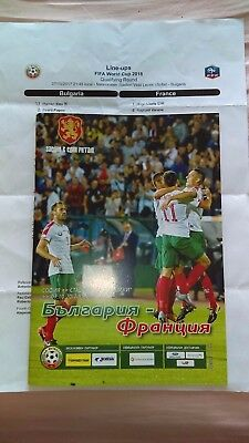 Official Programme Bulgaria Bulgarie-France + Teamsheet 07.10.2017