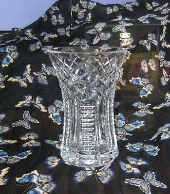 Large crystal cut glass flower vase