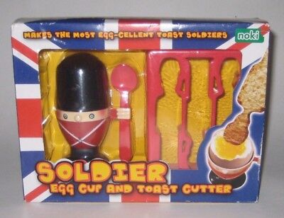 SOLDIER Egg CUP & Toast CUTTER by NOKI Ware PALADONE Products UK