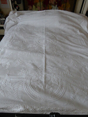 Antique marcella bedspread, double, lovely quality