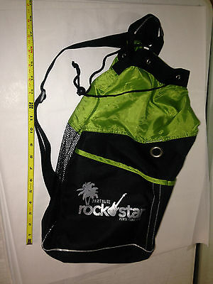 Partylite Consultant Exclusive Large Tote Bag GREEN BLACK ROCK STAR