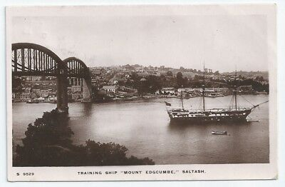 HMS MOUNT EDGCUMBE / CONWAY / WINCHESTER Training Ship Royal Navy RP PC 1912