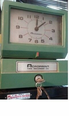 Acroprint Model 150 AR3 Analog Manual Time Clock Punch Card