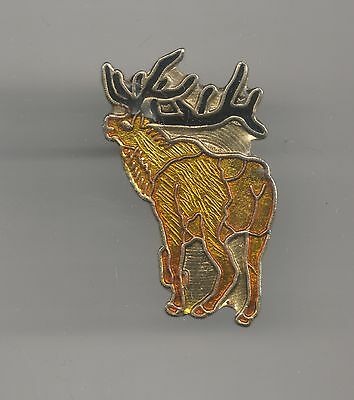 Vintage Elk from the rear old enamel pin