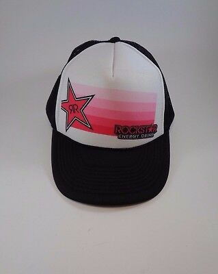 701553b1859 ... coupon code for rockstar energy drink trucker puffy black mesh snapback  cap hat one size b0a7e ...