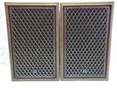 Vintage Rare Sansui SP-50 SPEAKERS WOOD GRILL - MADE IN JAPAN