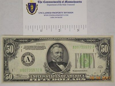$50 Federal Reserve Note 1934