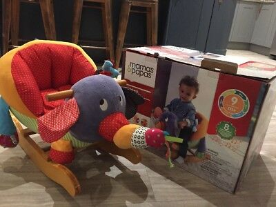 Mama And Papas elephant rocking Animal +9 Months ~ Boxed